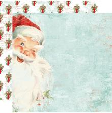 Simple Stories Simple Vintage North Pole Double-Sided Cardstock 12X12 - St. Nich