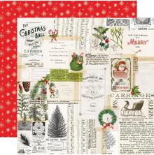Simple Stories Simple Vintage North Pole Double-Sided Cardstock 12X12 - Merry Me