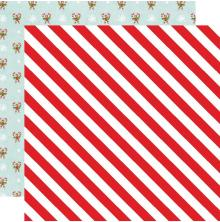 Simple Stories Simple Vintage North Pole Double-Sided Cardstock 12X12 - Twinkle