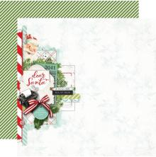 Simple Stories Simple Vintage North Pole Double-Sided Cardstock 12X12 - Dear San