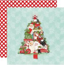 Simple Stories Simple Vintage North Pole Double-Sided Cardstock 12X12 - The Trim