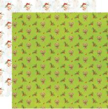 Simple Stories Simple Vintage North Pole Double-Sided Cardstock 12X12 - Holly Da