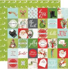 Simple Stories Simple Vintage North Pole Double-Sided Cardstock 12X12 - 2X2 Elem