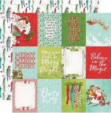 Simple Stories Simple Vintage North Pole Double-Sided Cardstock 12X12 - 3X4 Elem