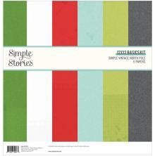 Simple Stories Basics Paper Pack 12X12 6/Pkg - Simple Vintage North Pole