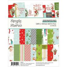 Simple Stories Double-Sided Paper Pad 6X8 24/Pkg - Simple Vintage North Pole