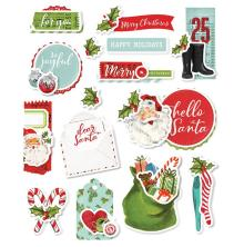 Simple Stories Layered Stickers 15/Pkg - Simple Vintage North Pole