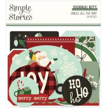 Simple Stories Bits & Pieces Die-Cuts 39/Pkg - Jingle All The Way Journal