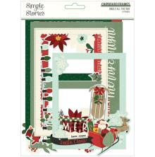 Simple Stories Layered Frames 6/Pkg - Jingle All The Way