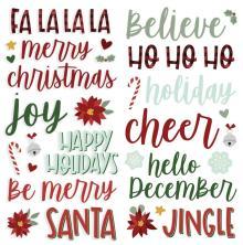 Simple Stories Foam Stickers 37/Pkg - Jingle All The Way