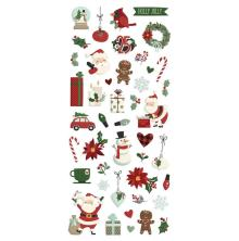 Simple Stories Puffy Stickers 4X6 2/Pkg - Jingle All The Way