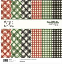 Simple Stories Basics Paper Pack 12X12 6/Pkg - Jingle All The Way