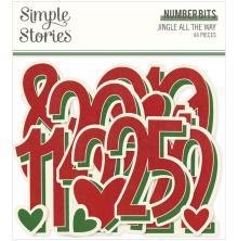 Simple Stories Bits & Pieces Die-Cuts 44/Pkg - Number Bits