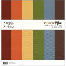 Simple Stories Textured Cardstock Kit 12X12 - Fall