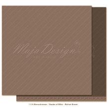 Maja Design Monochromes 12X12 Shades of Miles Apart - Walnut Brown