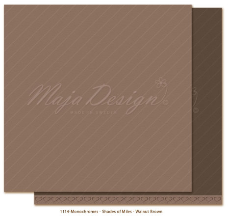 Maja Design Monochromes 12X12 Shades of Miles Apart - Walnut Brown