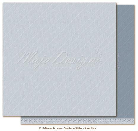 Maja Design Monochromes 12X12 Shades of Miles Apart - Steel Blue