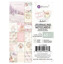 Prima Journaling Cards 3X4 45/Pkg - Sugar Cookie By Frank Garcia