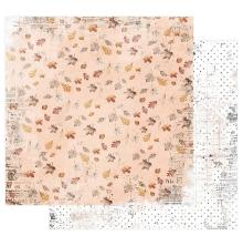 Prima Pumpkin & Spice Cardstock 12X12 - Crunchy Leaves