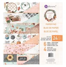 Prima Double-Sided Paper Pad 12X12 24/Pkg - Pumpkin & Spice