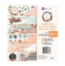 Prima Double-Sided Paper Pad 6X6 30/Pkg - Pumpkin & Spice