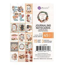 Prima Journaling Cards 3X4 45/Pkg - Pumpkin & Spice