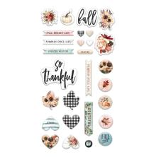 Prima Puffy Stickers 29/Pkg - Pumpkin & Spice