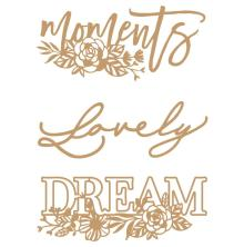 Prima Laser Cut Chipboard 3/Pkg - Words To Live By 2