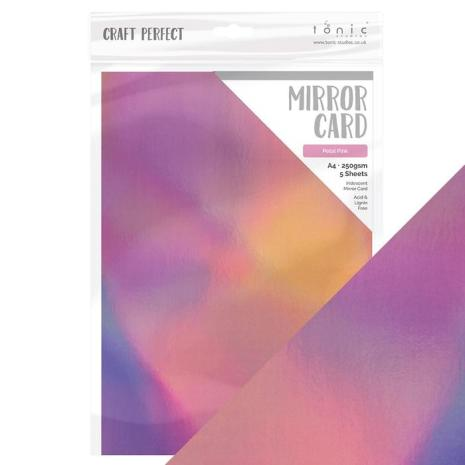 Tonic Studios Craft Perfect Mirror Card A4 - Petal Pink 9775E