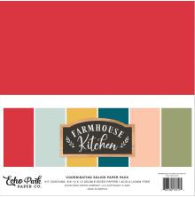 Echo Park Solid Cardstock 12X12 6/Pkg - Farmhouse Kitchen