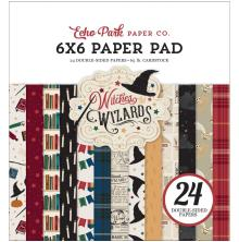 Echo Park Double-Sided Paper Pad 6X6 - Witches & Wizards