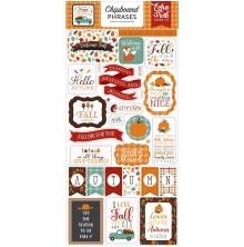 Echo Park Happy Fall Chipboard 6X13 - Phrases