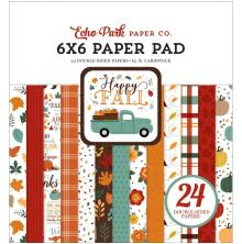Echo Park Double-Sided Paper Pad 6X6 - Happy Fall