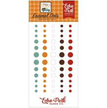 Echo Park Adhesive Enamel Dots 60/Pkg - Happy Fall