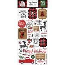 Echo Park A Lumberjack Christmas Chipboard 6X13 - Phrases