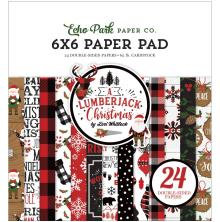Echo Park Double-Sided Paper Pad 6X6 - A Lumberjack Christmas
