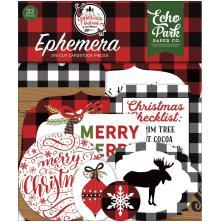 Echo Park A Lumberjack Christmas Cardstock Die-Cuts 33/Pkg - Icons