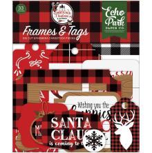 Echo Park A Lumberjack Christmas Cardstock Die-Cuts 33/Pkg - Frames & Tags