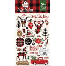 Echo Park Puffy Stickers - A Lumberjack Christmas