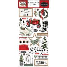 Carta Bella Farmhouse Christmas Chipboard 6X13 - Accents
