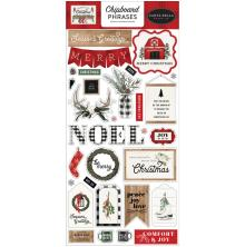 Carta Bella Farmhouse Christmas Chipboard 6X13 - Phrases