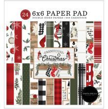 Carta Bella Double-Sided Paper Pad 6X6 - Farmhouse Christmas