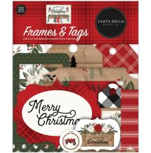 Carta Bella Farmhouse Christmas Cardstock Die-Cuts 33/Pkg - Frames & Tags