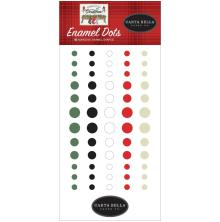 Carta Bella Adhesive Enamel Dots 60/Pkg - Farmhouse Christmas