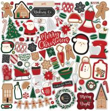 Echo Park A Gingerbread Christmas Cardstock Stickers 12X12 - Elements
