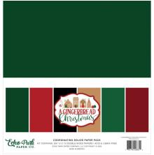 Echo Park Solid Cardstock 12X12 6/Pkg - A Gingerbread Christmas