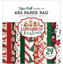 Echo Park Double-Sided Paper Pad 6X6 - A Gingerbread Christmas