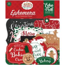 Echo Park A Gingerbread Christmas Cardstock Die-Cuts 33/Pkg - Icons