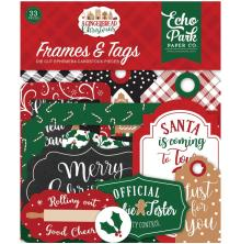 Echo Park A Gingerbread Christmas Cardstock Die-Cuts 33/Pkg - Frames & Tags