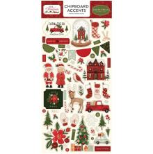 Carta Bella Hello Christmas Chipboard 6X13 - Accents